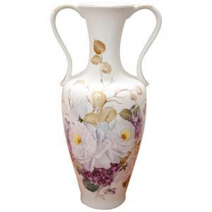 Beau vase en céramique artistique peint à la main vers 1980