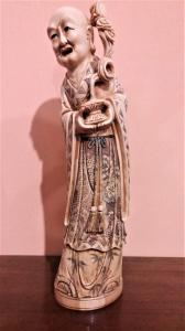 Sculpture en ivoire représentant un essai oriental