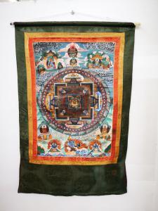 Tangka tibétaine, XXe siècle, peinture à la tempera sur toile