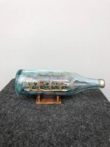 Modèle, de, bateau, intérieur, bouteille., Italie
