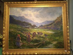 Peinture à l'huile sur toile de Cesare Gheduzzi.