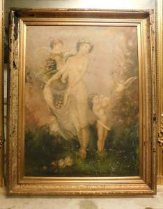 """pan295 - peinture à l'huile sur toile, signée par """"R. Wilson"""", cm l 118 xh 148"""