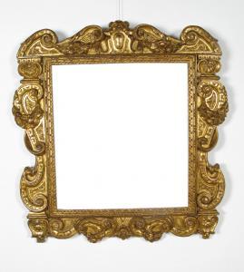 """Cadre """"Sansovino"""" en bois sculpté et doré Vénétie ou Toscane, XVIe siècle"""