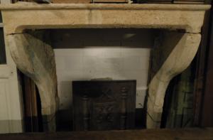 chp310 - Cheminée en pierre de Bourgogne, l 149 xh 157