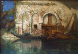 Vue de Ca 'Morto à Venise (1909) de Gennaro Favai