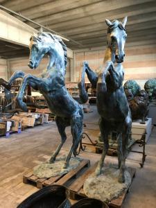 Chevaux en bronze