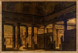 Alessandro Sanquirico (1777-1849), vue sur le centre-ville de la Grèce antique