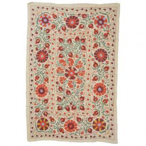 Tissu en coton SUSANI avec broderie en soie