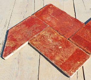 Sol en terre cuite authentique panaché Lombard