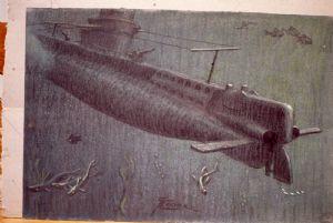 Sous-marin par Giovan Battista Crema