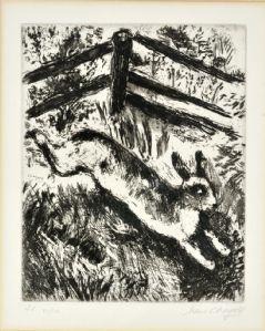 Marc Chagall - Le lièvre et la grenouille