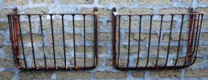 Couple de fer antique de auges.