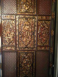 PANEL en bois peint période GOLDEN CHINA Qianlong CARVED (1736-1795)