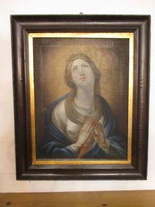 huile peinte à la Quadro sur toile Madonna prière - 800 fois
