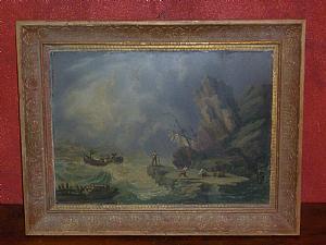 Storm - Peinture à l'huile-primi'800-